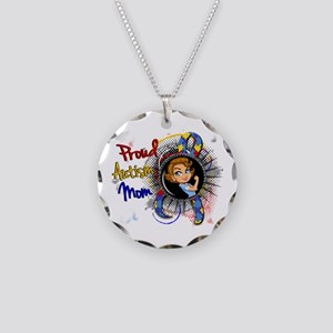 Autism Rosie Cartoon 1.1 Necklace Circle Charm