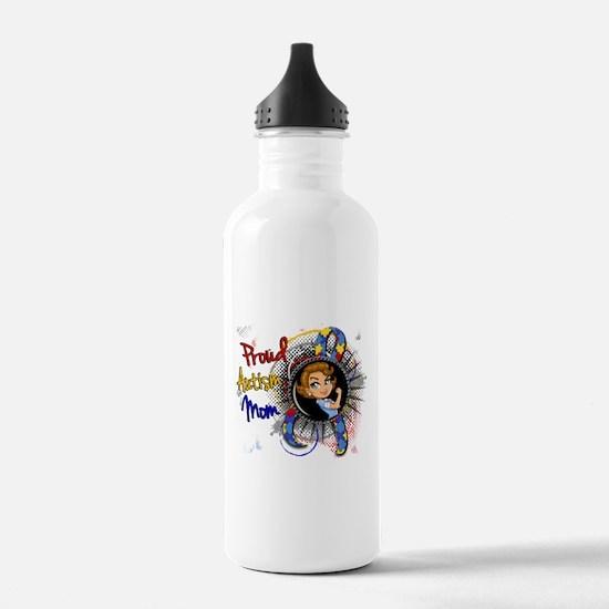 Autism Rosie Cartoon 1 Water Bottle