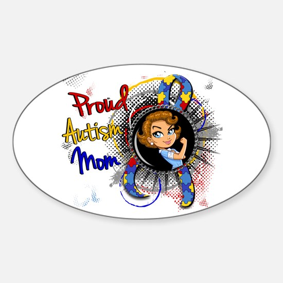 Autism Rosie Cartoon 1.1 Sticker (Oval)