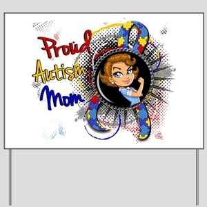 Autism Rosie Cartoon 1.1 Yard Sign