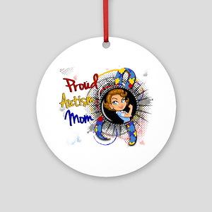 Autism Rosie Cartoon 1.1 Ornament (Round)
