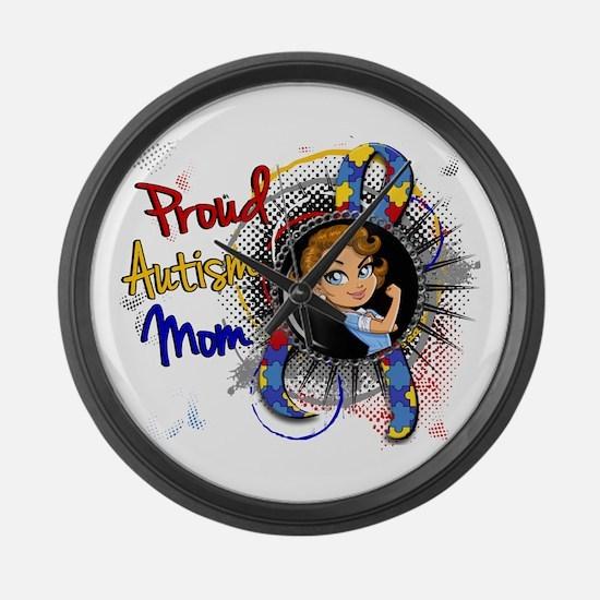 Autism Rosie Cartoon 1.1 Large Wall Clock