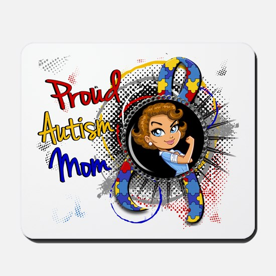 Autism Rosie Cartoon 1.1 Mousepad