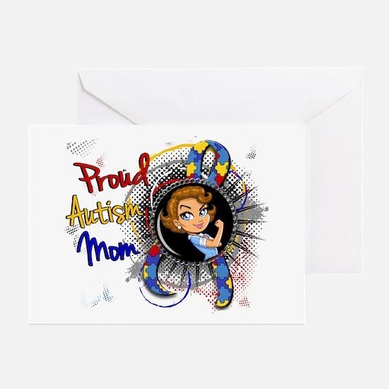 Autism Rosie Cartoon 1.1 Greeting Cards (Pk of 10)