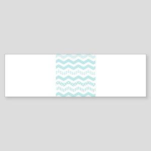 Mint Chevron with a twist Bumper Sticker