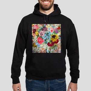 Colorful Flower pattern Hoody