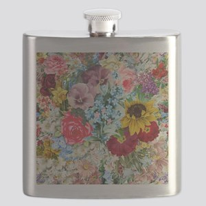Colorful Flower pattern Flask