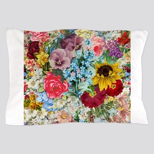 Colorful Flower pattern Pillow Case
