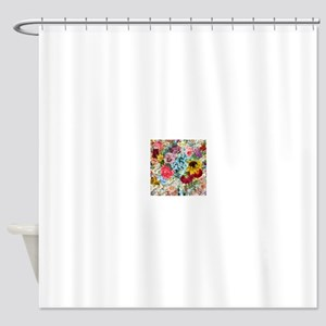 Colorful Flower pattern Shower Curtain