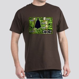 Jack the Ripper Victim Map Green Dark T-Shirt