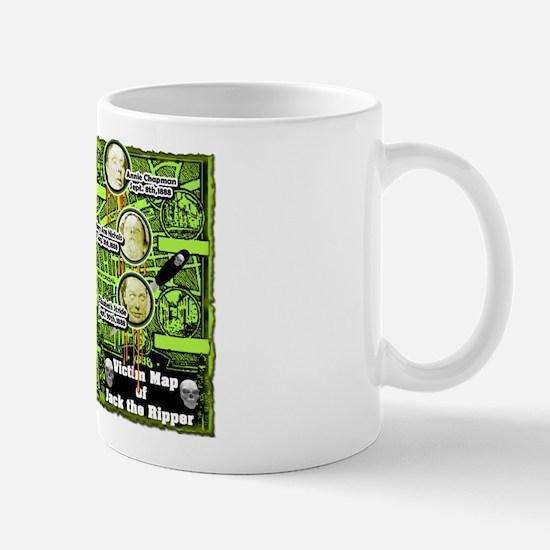 Jack the Ripper Victim Map Green Mug