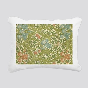 Willliam Morris Iris Pat Rectangular Canvas Pillow