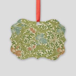 Willliam Morris Iris Pattern Picture Ornament