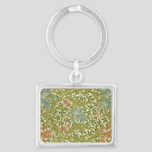 Willliam Morris Iris Pattern Landscape Keychain