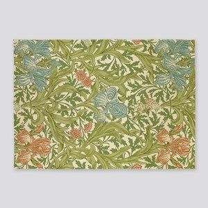 Willliam Morris Iris Pattern 5'x7'Area Rug