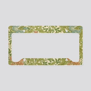 Willliam Morris Iris Pattern License Plate Holder