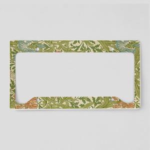 Willliam Morris Iris Pattern License Plate Holder