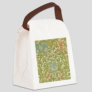 William Morris Iris Design Canvas Lunch Bag