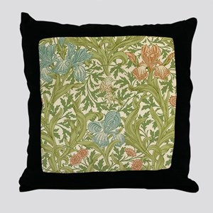 William Morris Iris Design Throw Pillow