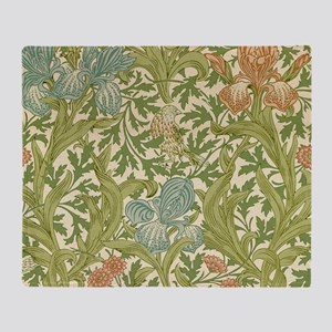 William Morris Iris Design Throw Blanket