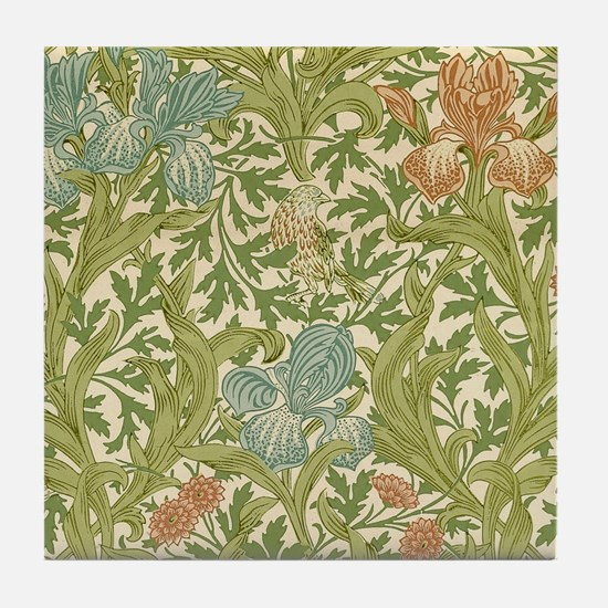 William Morris Iris Design Tile Coaster