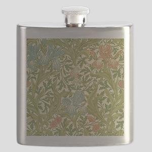 William Morris Iris Design Flask