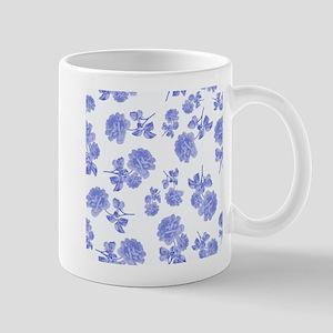 Blue Roses on white Mugs
