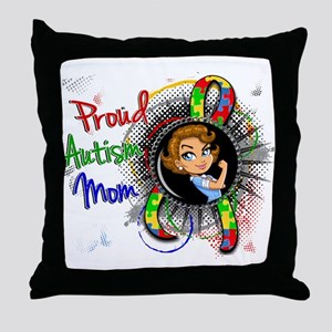 Autism Rosie Cartoon 1.2 Throw Pillow