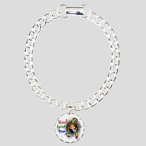 Autism Rosie Cartoon 1.2 Charm Bracelet, One Charm