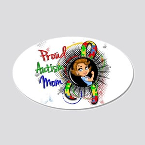 Autism Rosie Cartoon 1.2 20x12 Oval Wall Decal