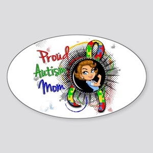 Autism Rosie Cartoon 1.2 Sticker (Oval)