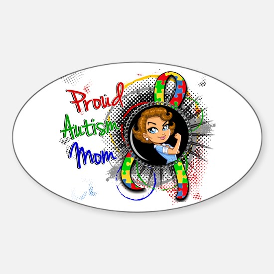 Autism Rosie Cartoon 1.2 Sticker (Oval)