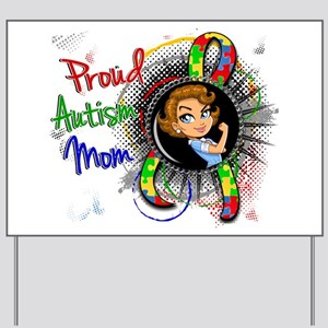 Autism Rosie Cartoon 1.2 Yard Sign