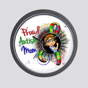 Autism Rosie Cartoon 1.2 Wall Clock