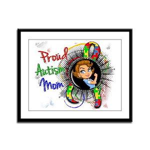 Autism Rosie Cartoon 1.2 Framed Panel Print