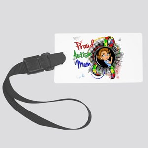 Autism Rosie Cartoon 1.2 Large Luggage Tag