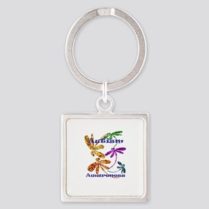 Autism Awareness Square Keychain