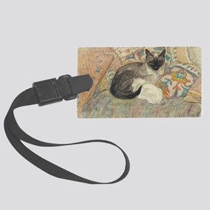 Steinlen Cat Large Luggage Tag
