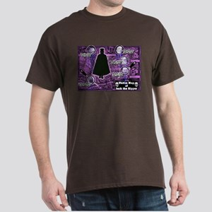 Jack the Ripper Victim Map Purple Dark T-Shirt