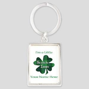 Green Plaid Scotch Irish Shamrock Keychains