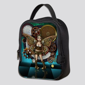 Steampunk Fairy Illustration Neoprene Lunch Bag
