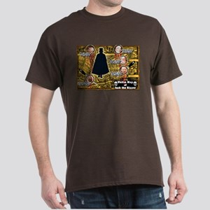 Jack the Ripper Victim Map Orange Dark T-Shirt