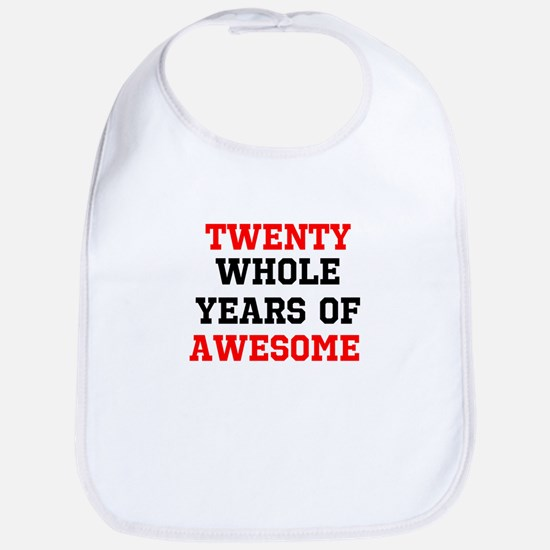 Whole Years of Awesome Cotton Baby Bib