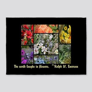 The Earth Laughs in Flowers 5'x7'Area Rug