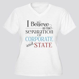 Separate Corporate From State Plus Size T-Shirt