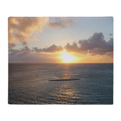 Aruba Sunset Throw Blanket