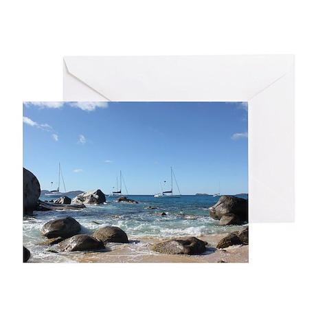 BVI Sailing Boats Greeting Card