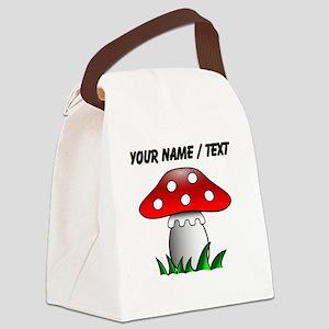 Custom Cartoon Mushroom Canvas Lunch Bag