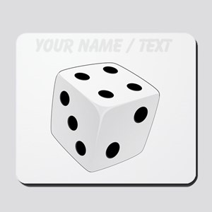Custom White Playing Dice Mousepad