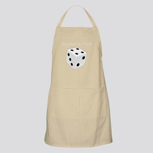 Custom White Playing Dice Apron